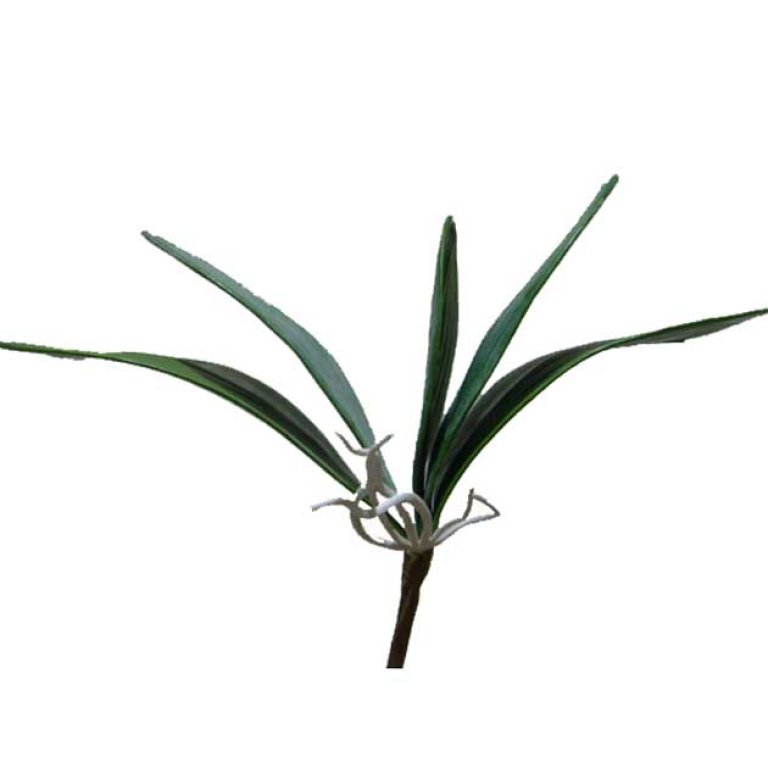 ARTIFICIAL ORCHID LEAF BRANCH 25CM
