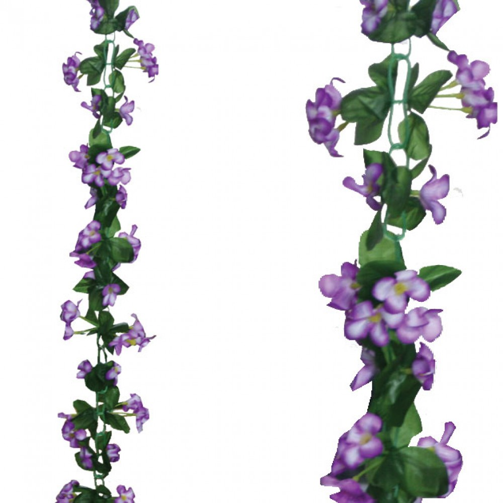ARTIFICIAL LILY GARLAND PURPLE 220CM