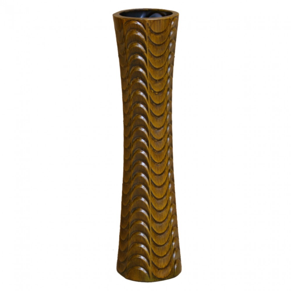 CERAMIC FLOOR VASE BROWN 75CM