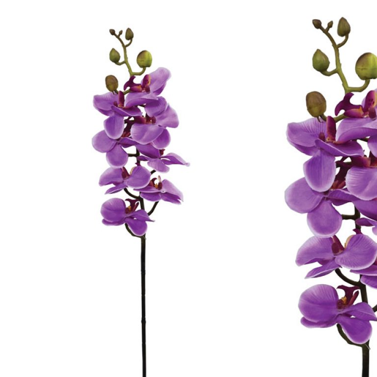 ARTIFICIAL ORCHID BRANCH PURPLE 76CM