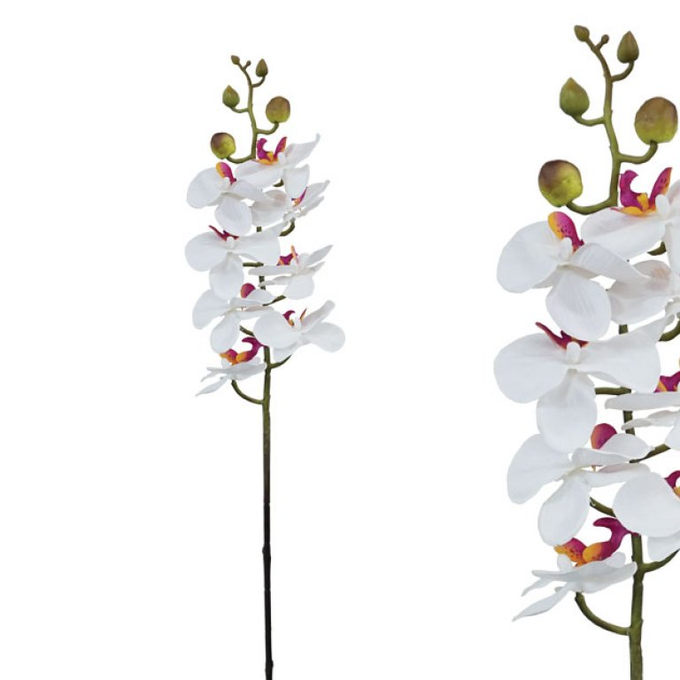 ARTIFICIAL ORCHID BRANCH WHITE 76CM