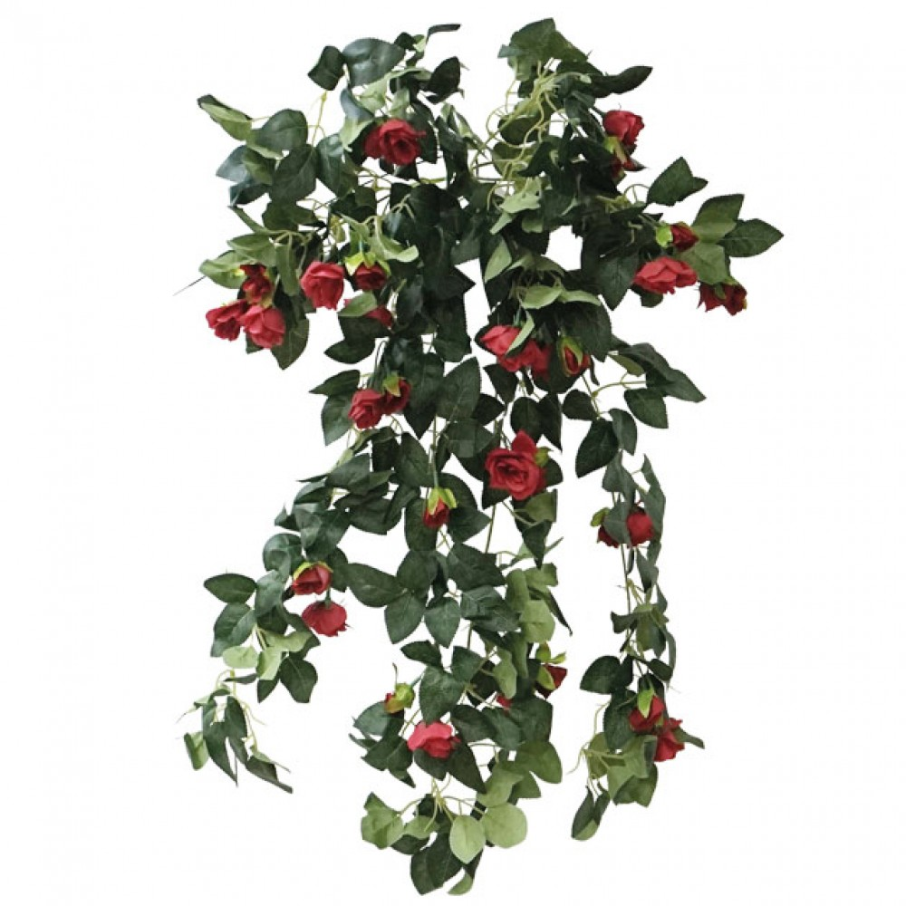ARTIFICIAL HANGING ROSE TREE RED 72CM
