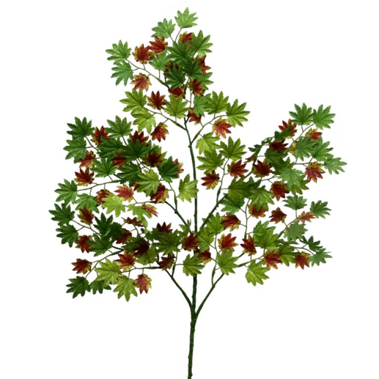 ARTIFICIAL PLATANUS LEAF BRANCH GREEN-BROWN 65CM