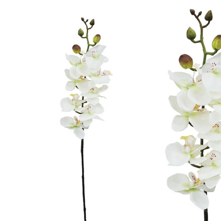ARTIFICIAL ORCHID BRANCH CHAMPAGNE 76CM