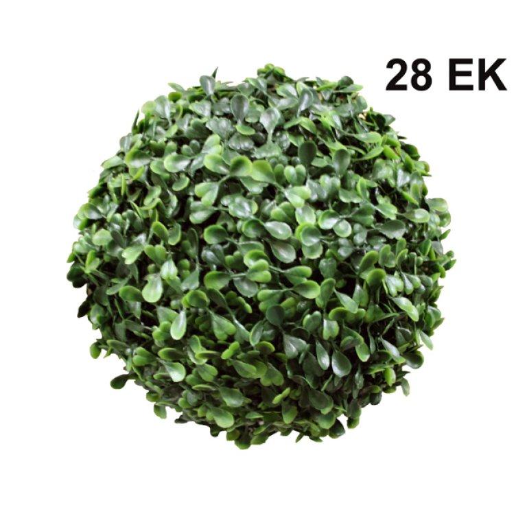 ARTIFICIAL GREEN BALL TREFOIL 28CM