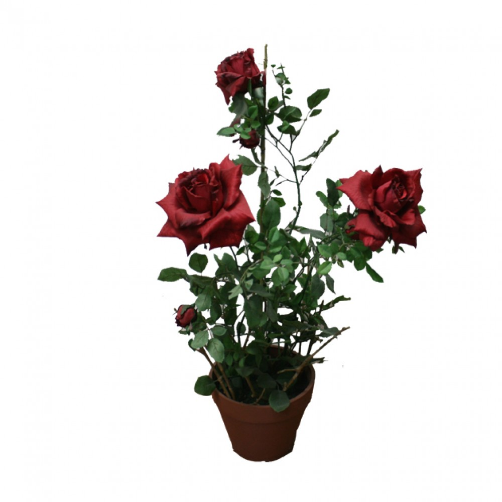ARTIFICIAL ROSE TREE RED 68CM