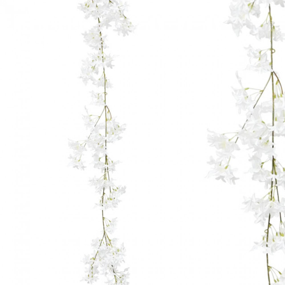 ARTIFICIAL JASMINE GARLAND WHITE 180CM