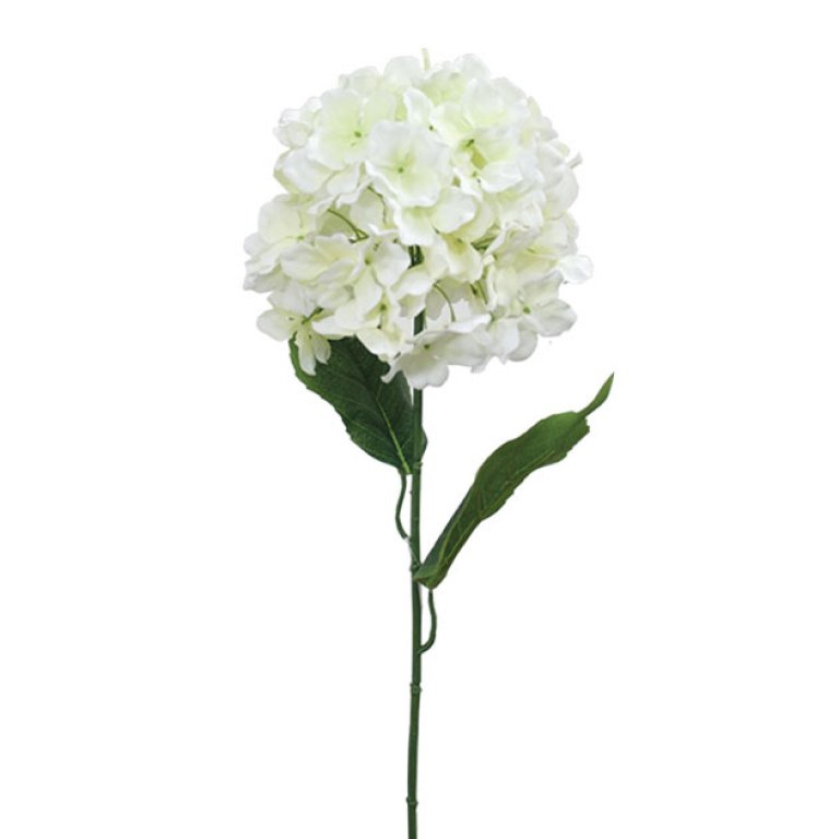 ARTIFICIAL ORTENSIA BRANCH CREAM 74CM