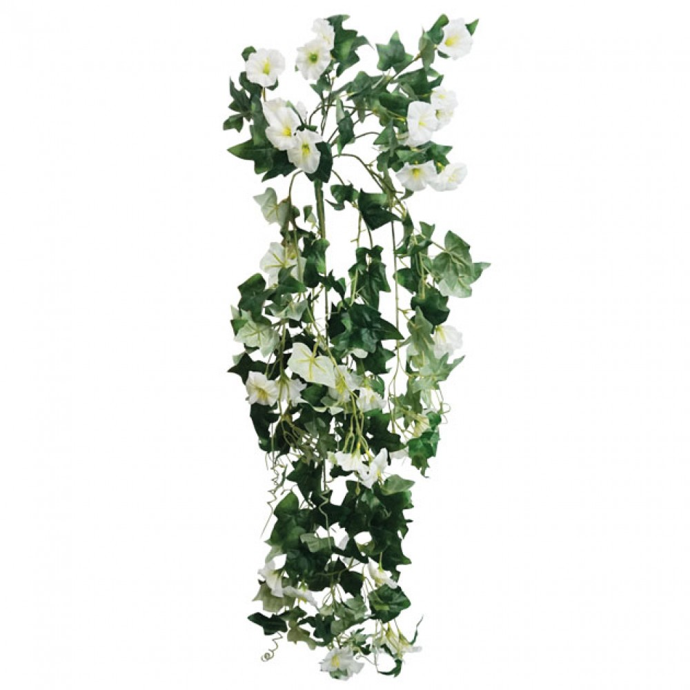ARTIFICIAL HANGING NIGHT FLOWER WHITE 80CM