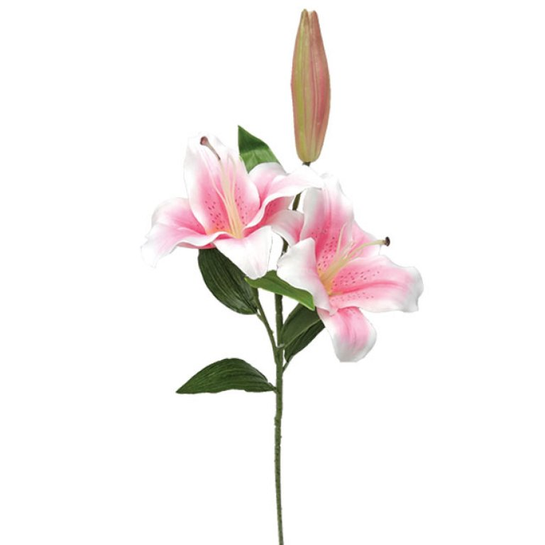 ARTIFICIAL LILY BRANCH PINK 80CM