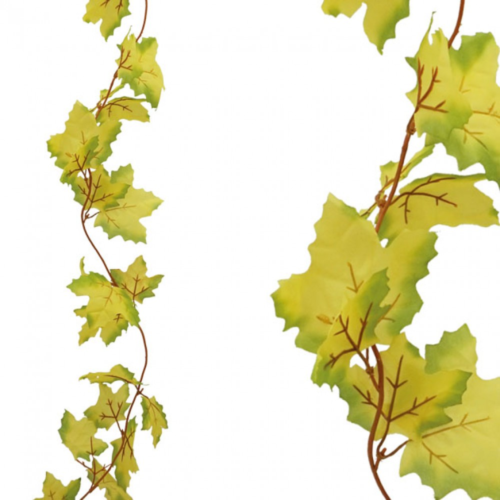 ARTIFICIAL PLATANUS GARLAND GREEN-YELLOW 100CM