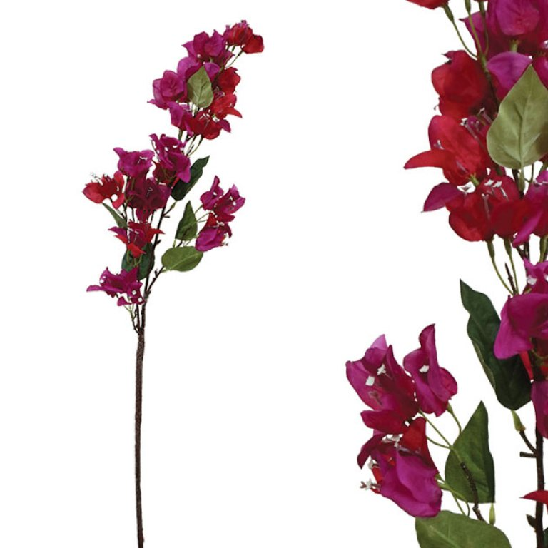 ARTIFICIAL BOUGAINVILLEA BRANCH FUCHSIA 100CM