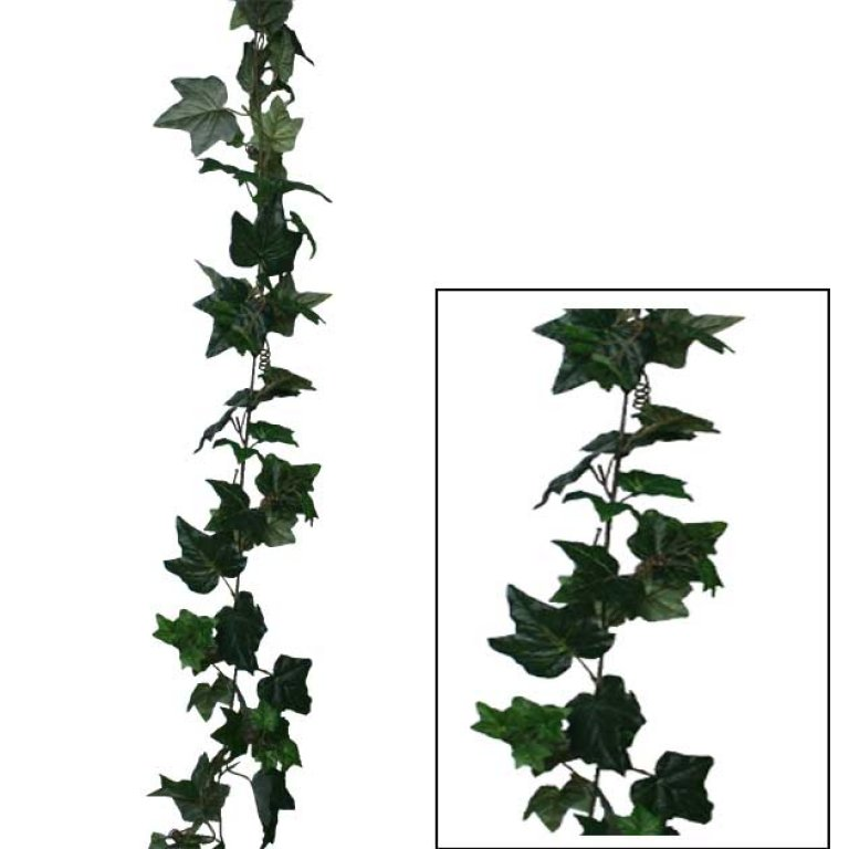 ARTIFICIAL IVY GARLAND GREEN 180CM
