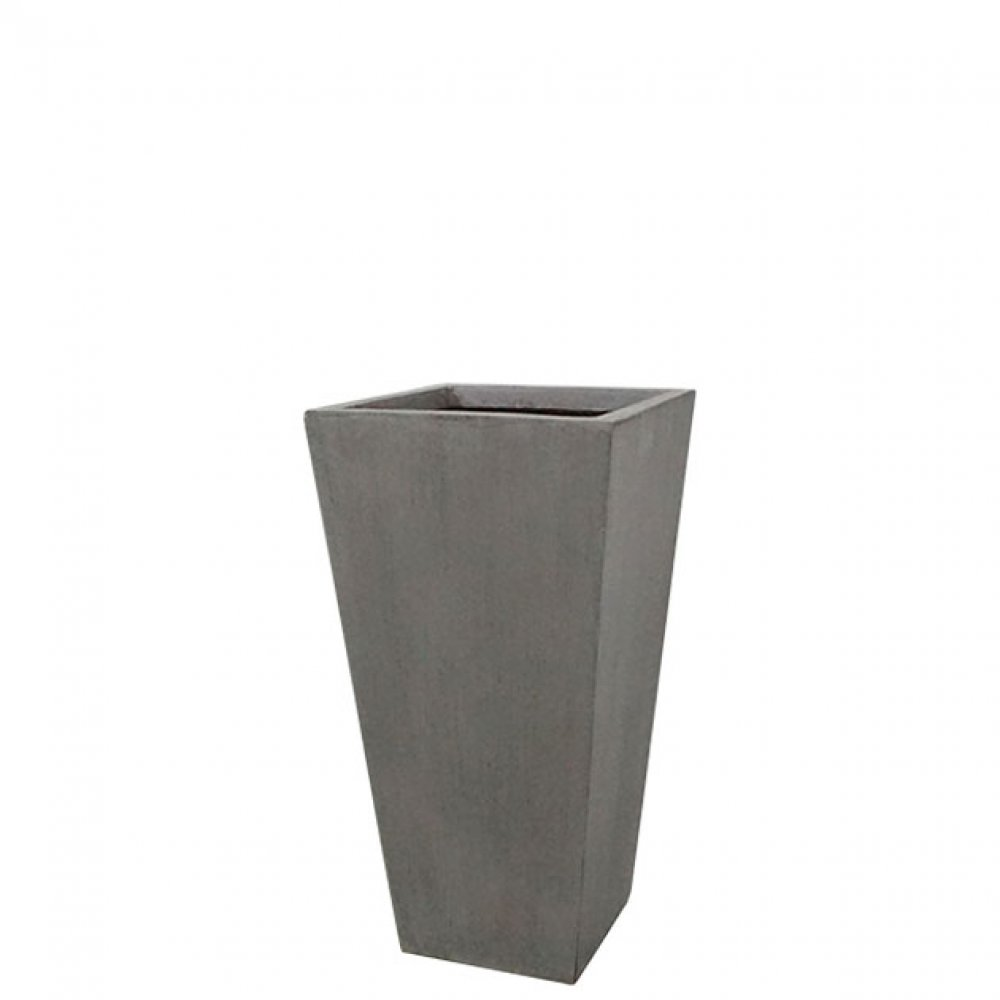 FLOWER POT MEDIUM GREY/BROWN 23.5x46.5CM