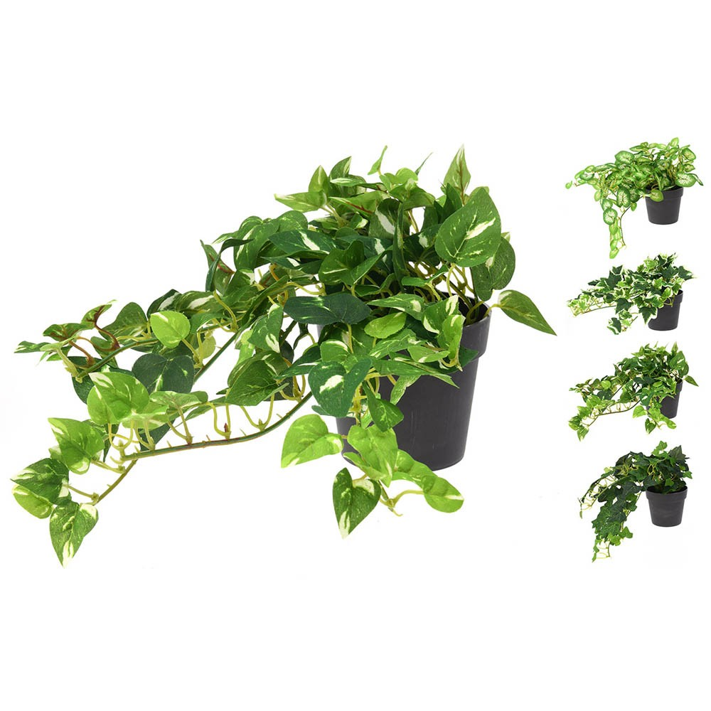 ARTIFICIAL HANGING GREENERY (4 PIECES) 12x20CM