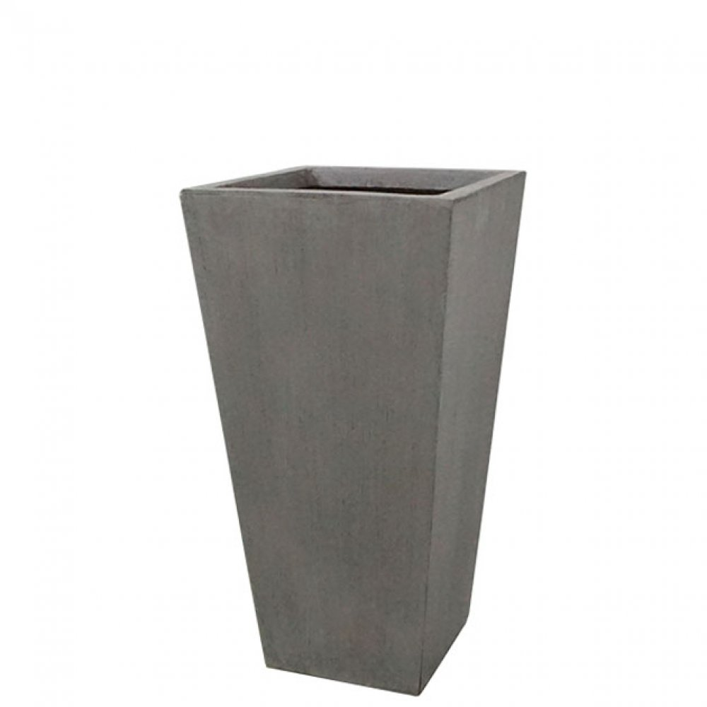 FLOWER POT LARGE GREY/BROWN 32x61CM
