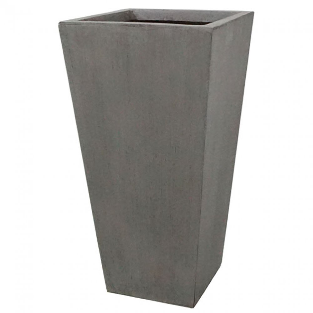 FLOWER POT XLARGE GREY/BROWN 42x90CM