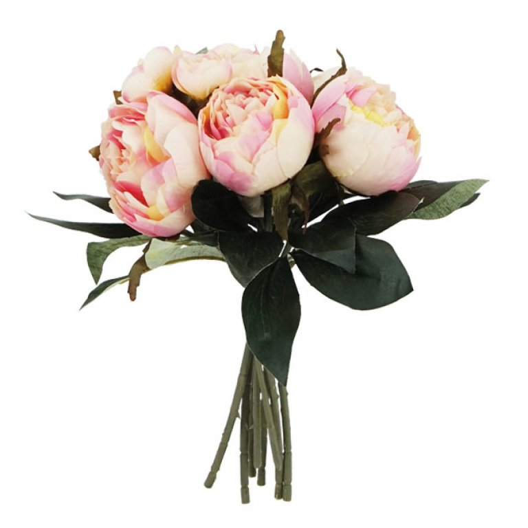 ARTIFICIAL PEONY BOUQUET PINK 32CM