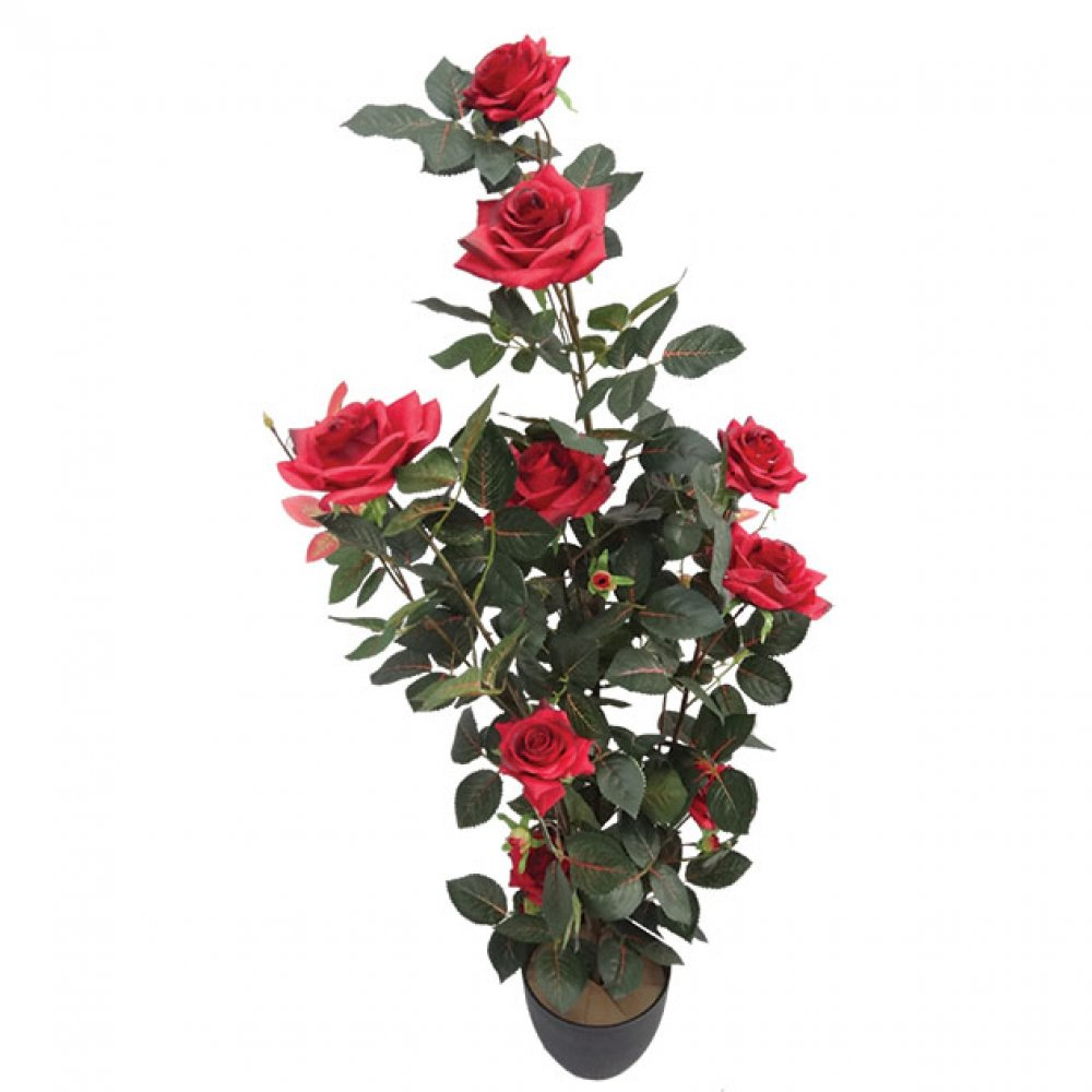 ARTIFICIAL ROSE TREE RED 90CM