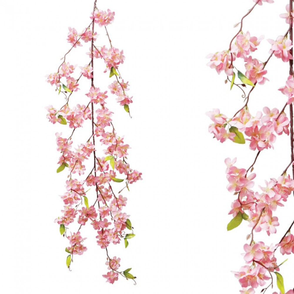 ARTIFICIAL ALMOND GARLAND PINK 165CM