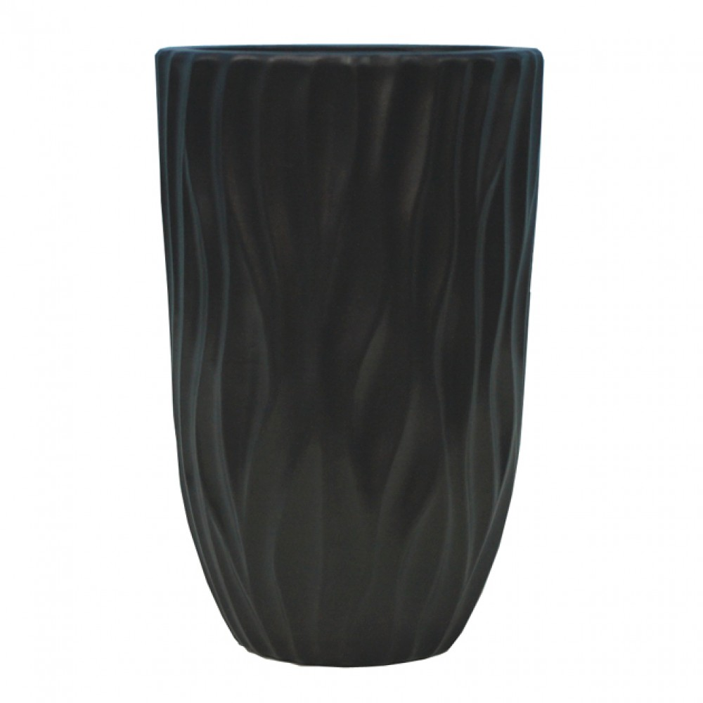 CERAMIC FLOOR VASE BLACK 15x30CM