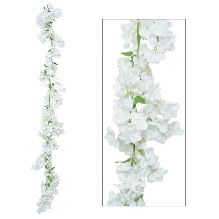 ARTIFICIAL FLOWER GARLAND DELPHINIUM 195CM