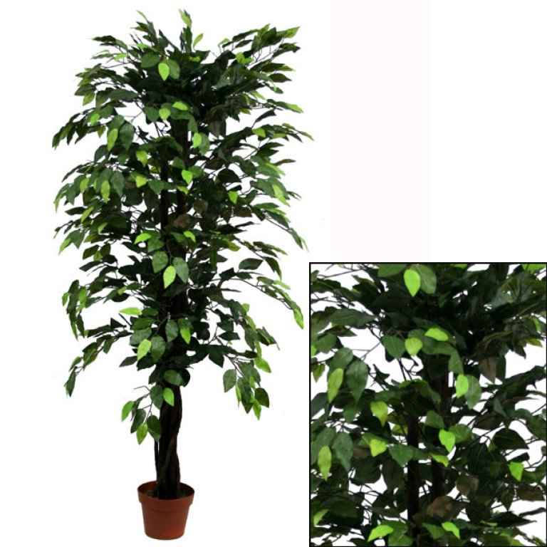 ARTIFICIAL FICUS BENJAMIN TREE GREEN 150CM