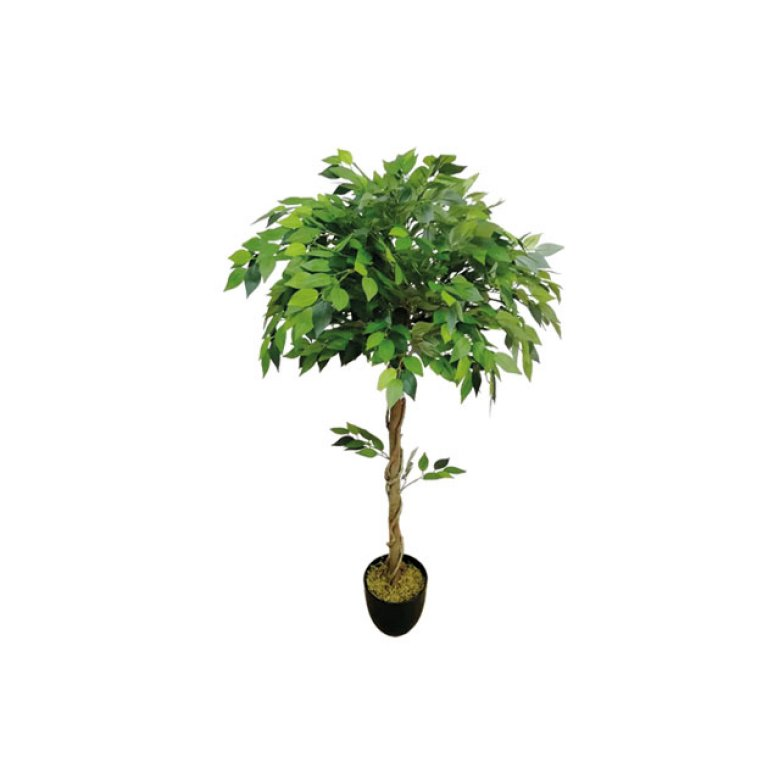 ARTIFICIAL FICUS BENJAMIN TREE BALL GREEN 120CM