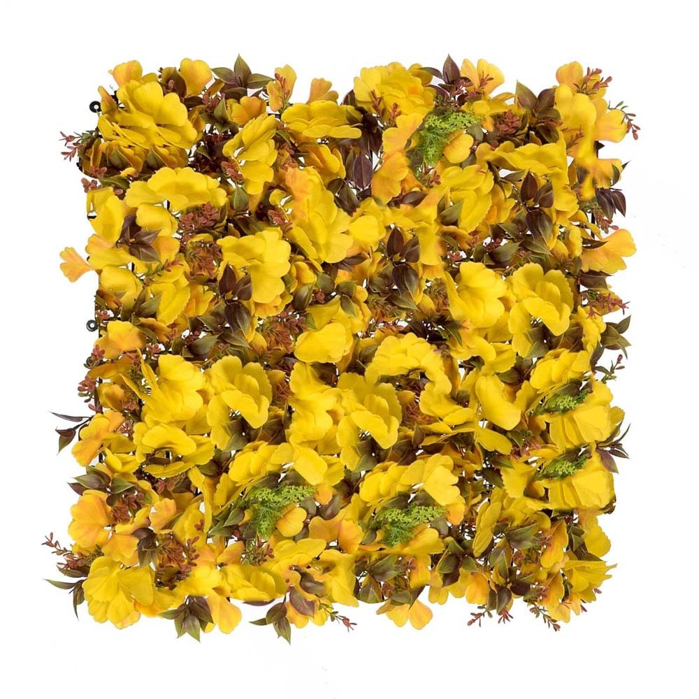 VERTICAL GARDEN FLOWER YELLOW 50X50CM