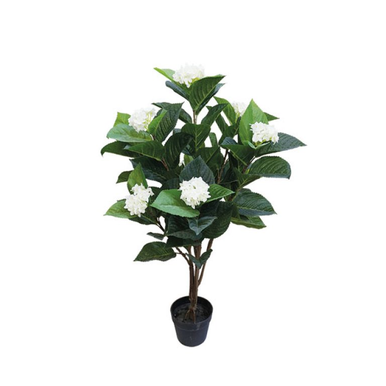 ARTIFICIAL ORTENSIA PLANT REAL TOUCH CREAM 107CM
