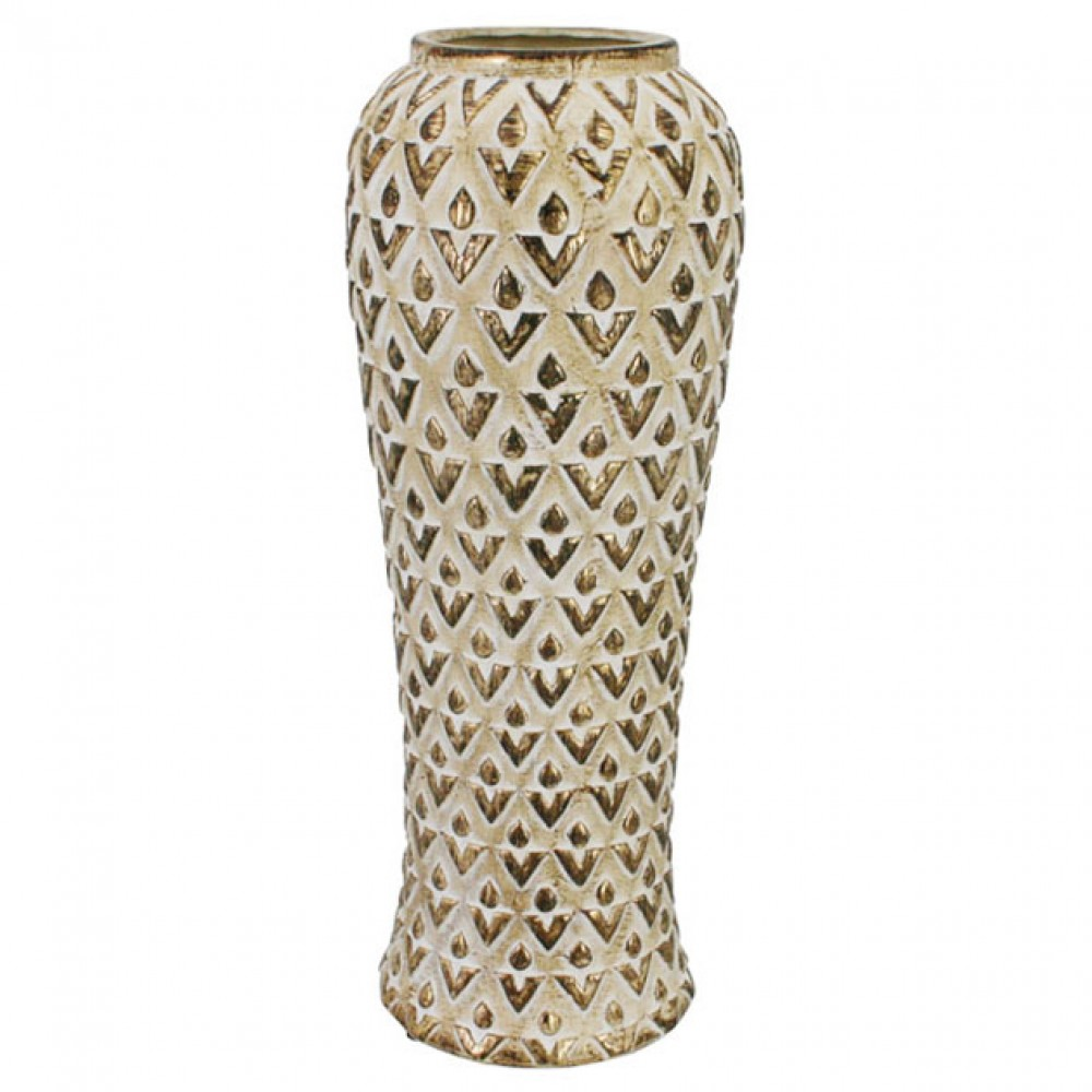 CERAMIC VASE BROWN 17x45CM