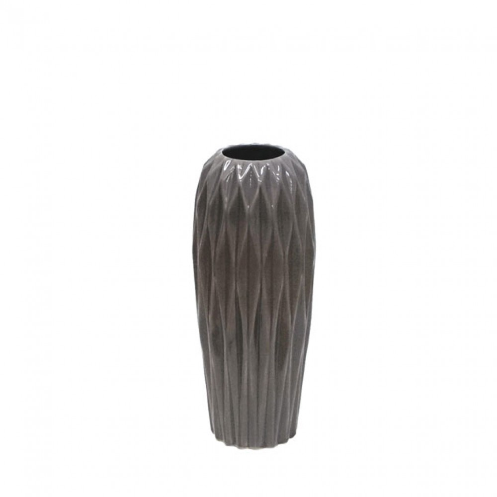 CERAMIC FLOOR VASE GREY 34CM