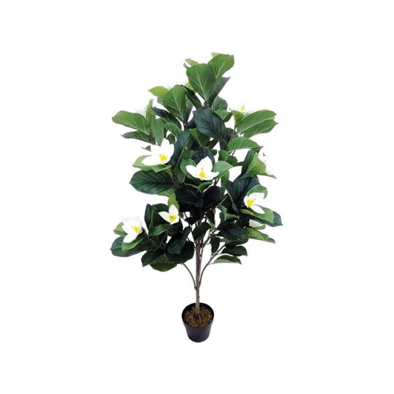 ARTIFICIAL PLUMERIA PLANT CREAM 140CM