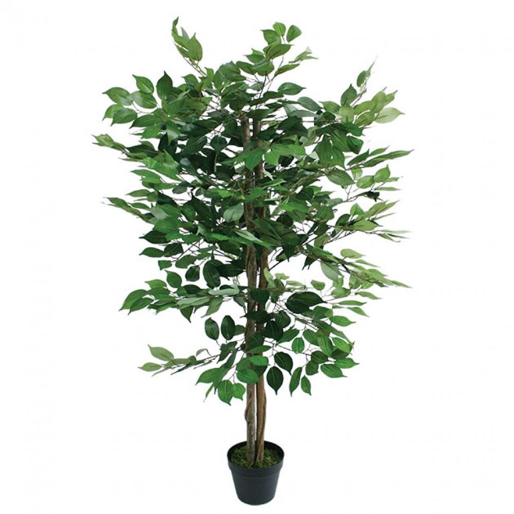 ARTIFICIAL FICUS BENJAMIN TREE GREEN 120CM