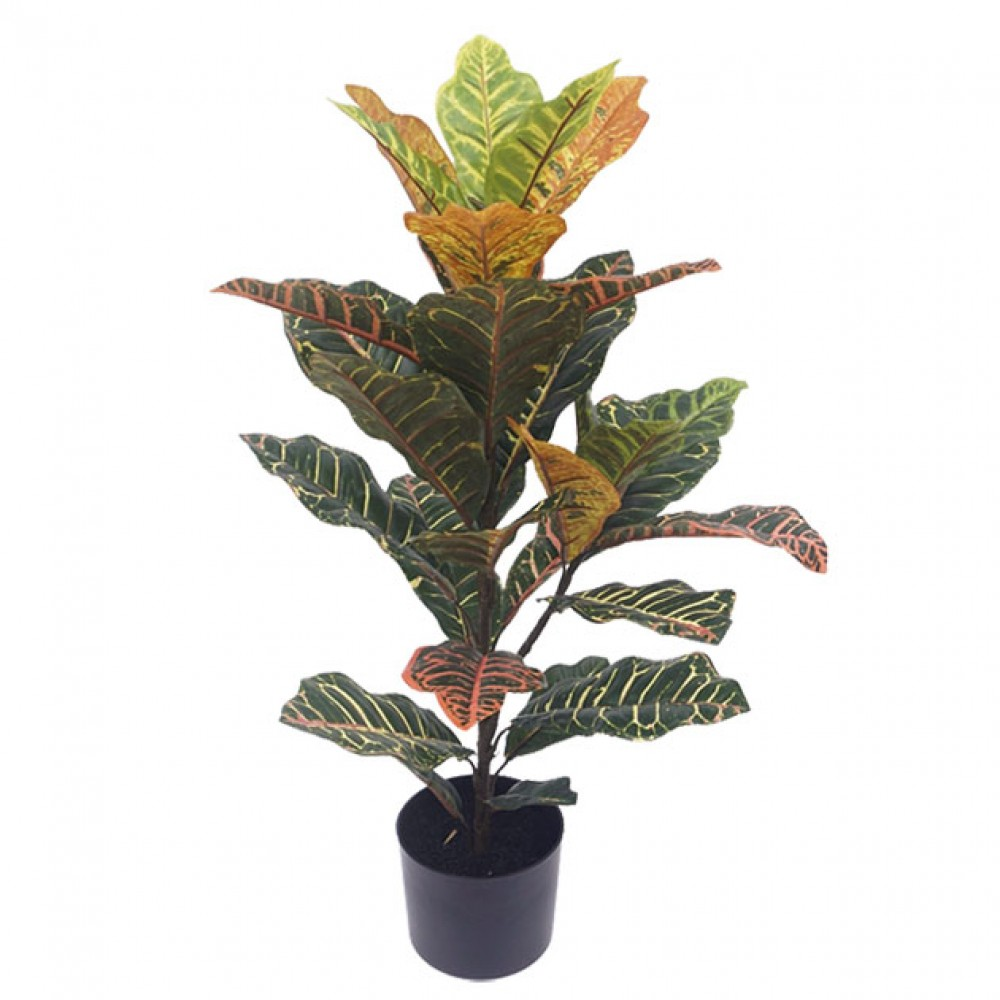 ARTIFICIAL CROTON PLANT REAL TOUCH 75CM