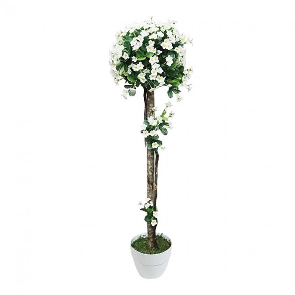 ARTIFICIAL BALL TREE CREAM FLOWER 127M