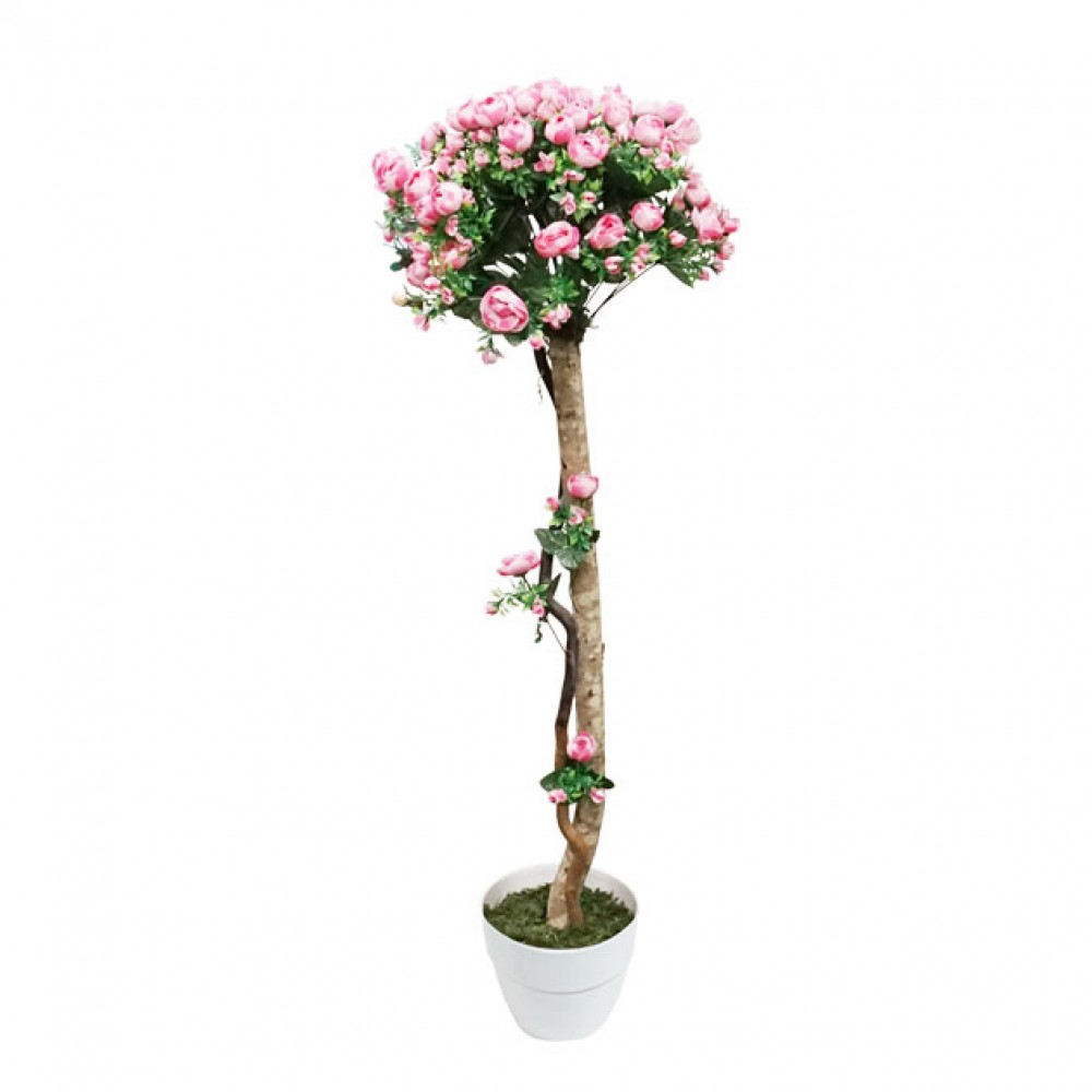 ARTIFICIAL RANUNCOLI TREE PINK 127M