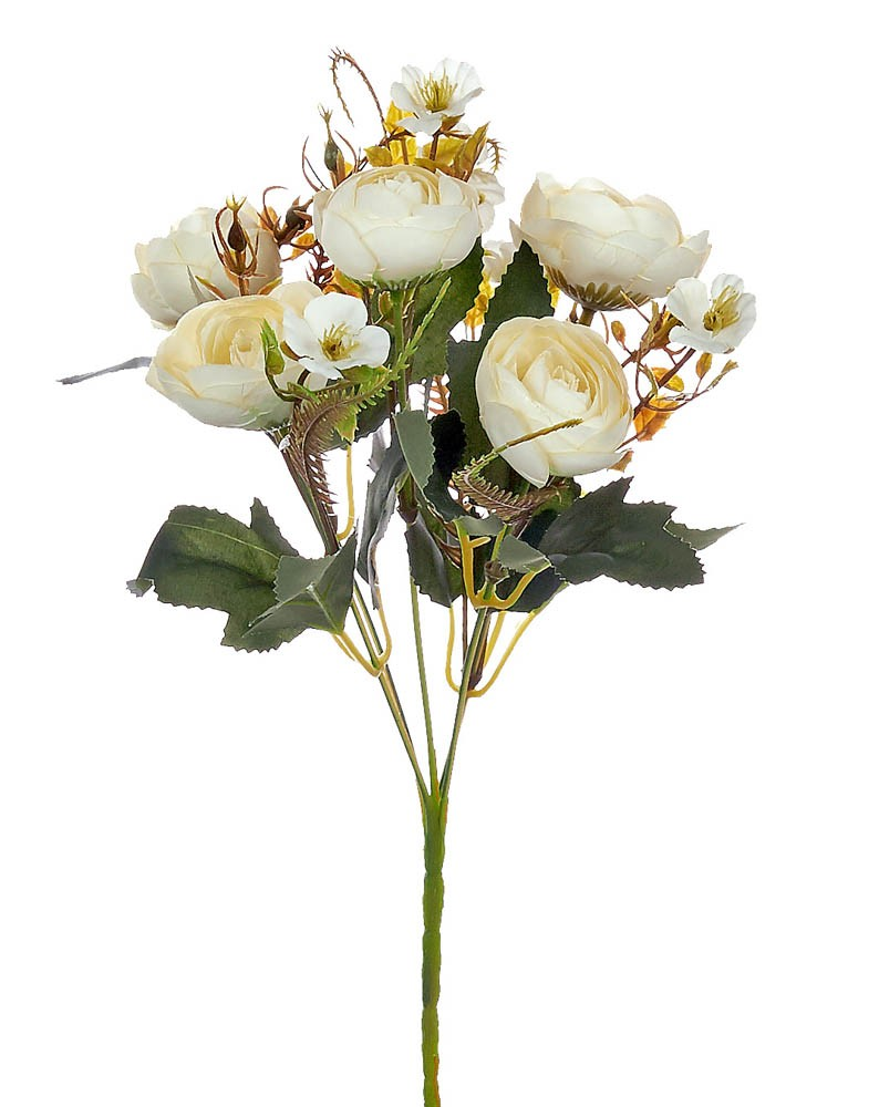 ARTIFICIAL RANUNCOLI BOUQUET CREAM 35CM