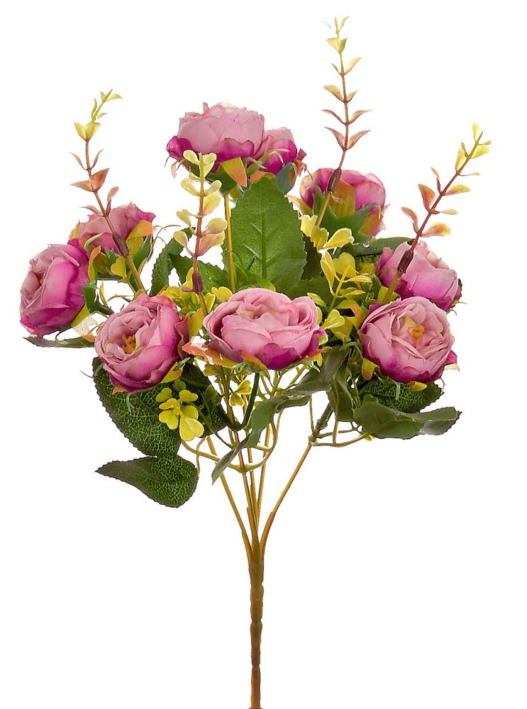 ARTIFICIAL RANUNCOLI BOUQUET FUCHSIA 32CM
