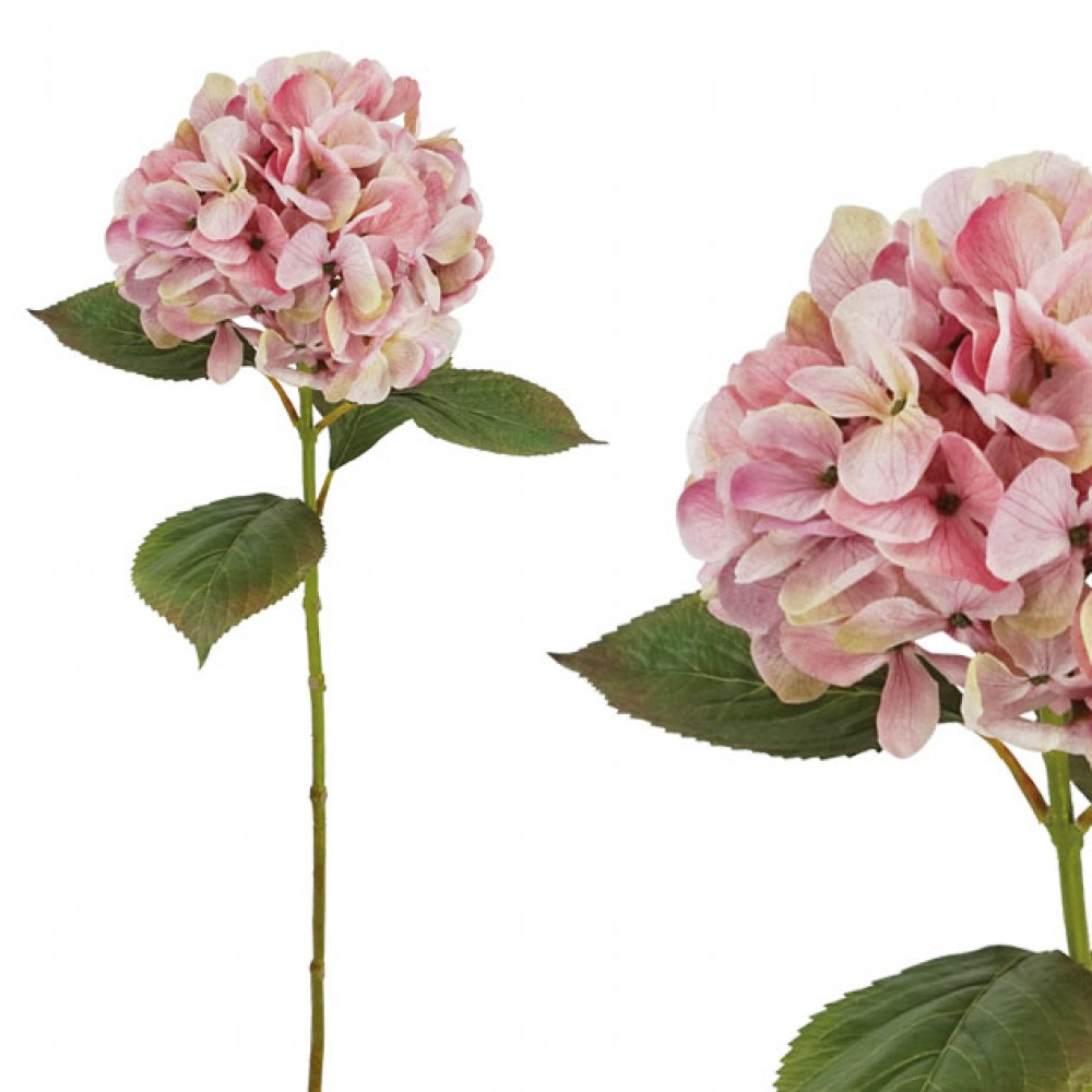 ARTIFICIAL ORTENSIA BRANCH PINK 60CM