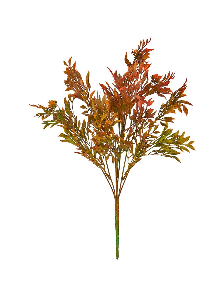 ARTIFICIAL GREENERY BOUQUET RED 39CM