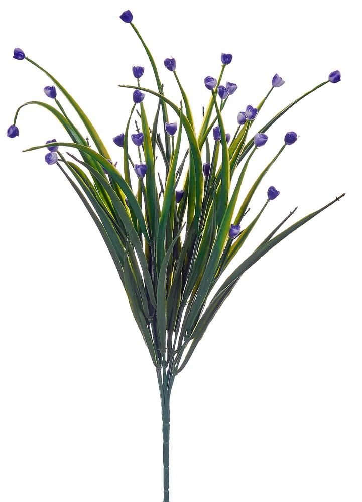 ARTIFICIAL GREENERY BOUQUET WITH FLOWER BLUE 35CM