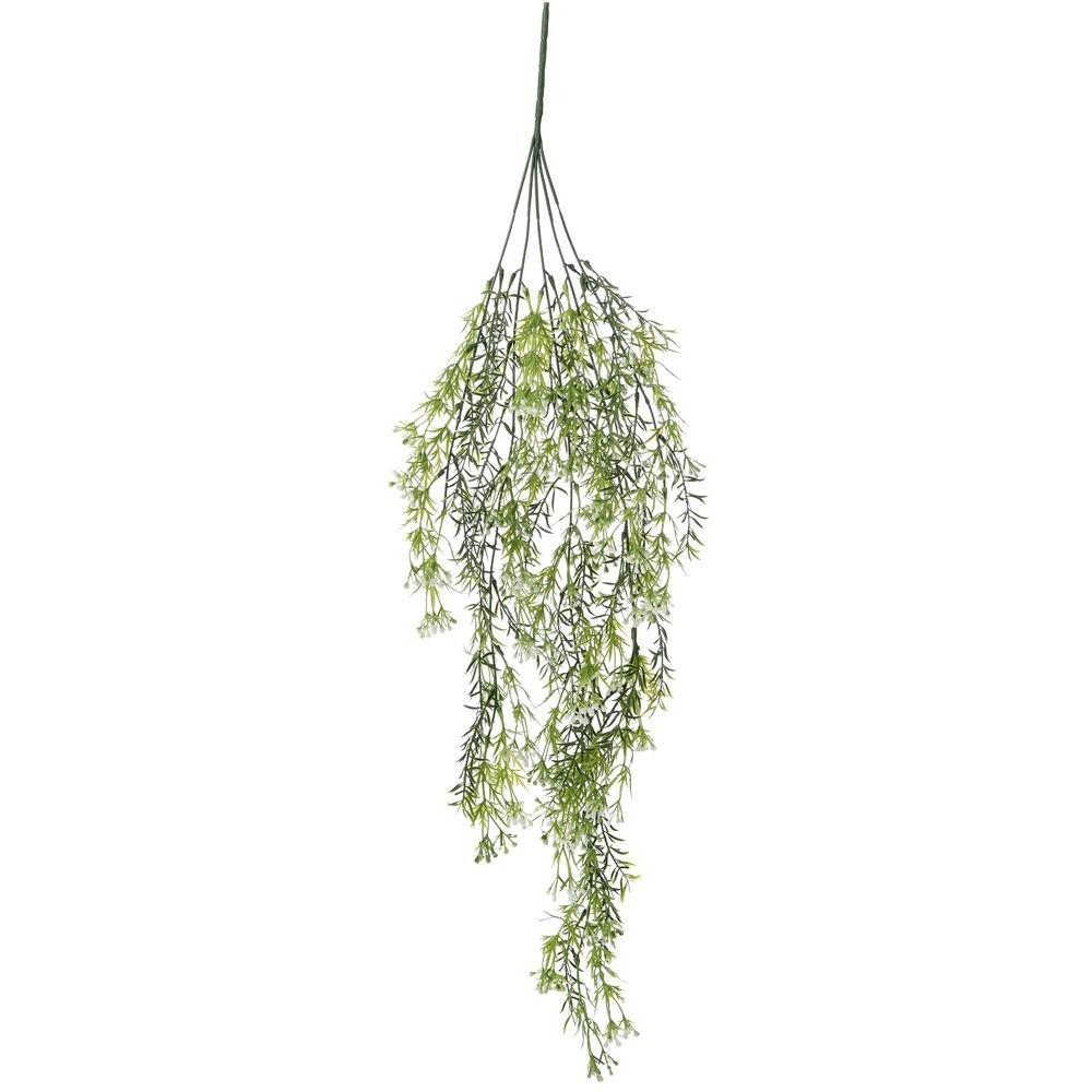 ARTIFICIAL HANGING GREENERY WITH FLOWER WHITE 78CM