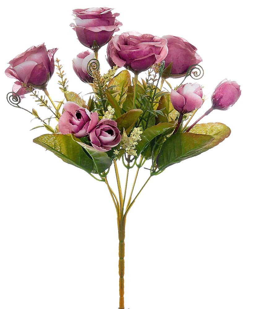 ARTIFICIAL ROSE BOUQUET FUCHSIA 35CM