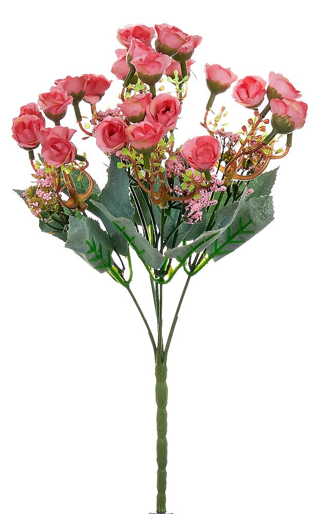 ARTIFICIAL ROSE BOUQUET PINK 30CM