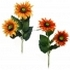 ARTIFICIAL SUNFLOWER BRANCH (2 COLOURS) 80CM