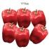 ARTIFICIAL PEPPER RED (SET 6 PIECES) 11CM