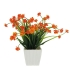 GREENERY IN FLOWER POT WITH ORANGE FLOWER 23CM