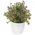 GREENERY IN FLOWER POT WITH FLOWER PURPLE 20CM
