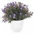 GREENERY IN FLOWER POT WITH FLOWER BLUE 18CM